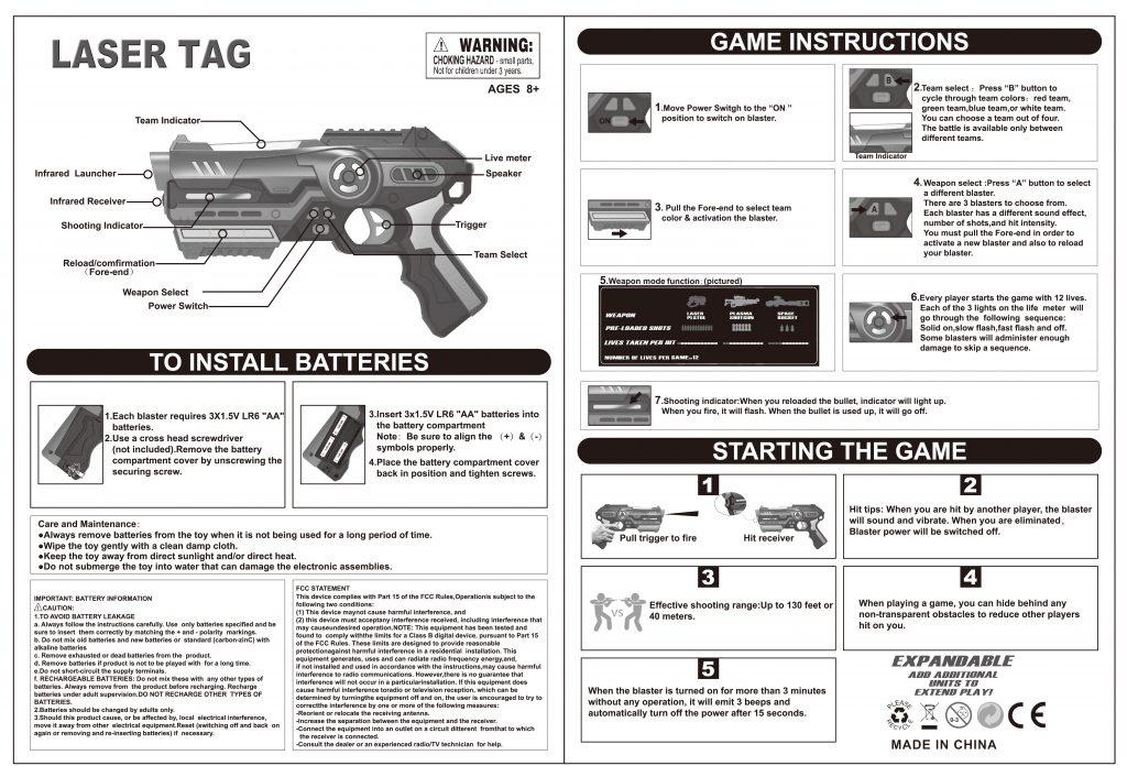 【gun】laser tag with target vest NO.869-24